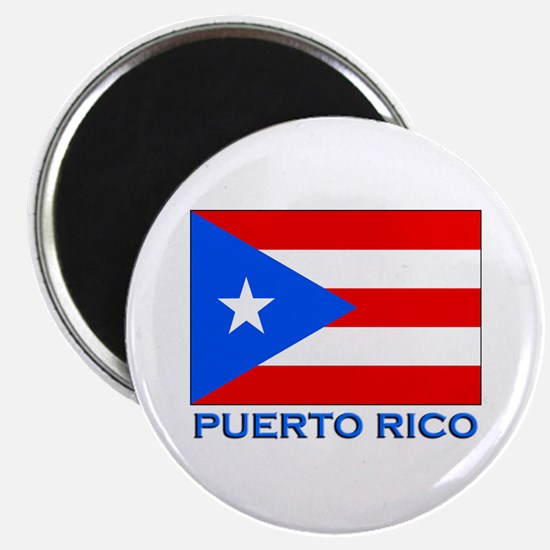 Puerto Rico Flag Gear Magnet