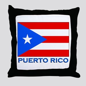 Puerto Rico Flag Gear Throw Pillow