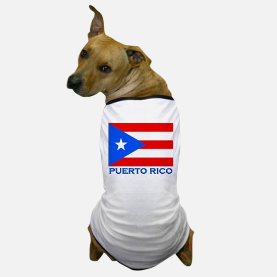 Puerto Rico Flag Gear Dog T-Shirt