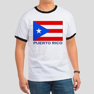 Puerto Rico Flag Gear Ringer T