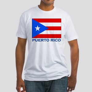 Puerto Rico Flag Gear Fitted T-Shirt