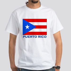 Puerto Rico Flag Gear White T-Shirt
