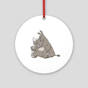 Rhino with an Attitude Ornament (Round)