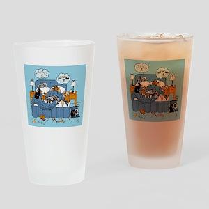 collie CRAZY Drinking Glass