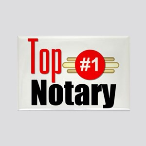Top Notary Rectangle Magnet