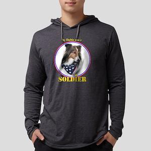 ArmySheltie#1 Mens Hooded Shirt