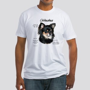Chihuahua (longhair) Fitted T-Shirt