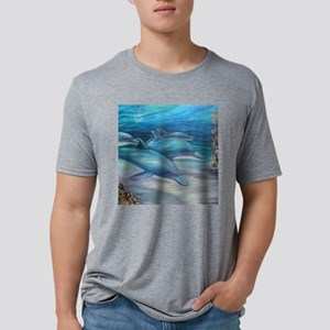 moonlight swim oct square.j Mens Tri-blend T-Shirt