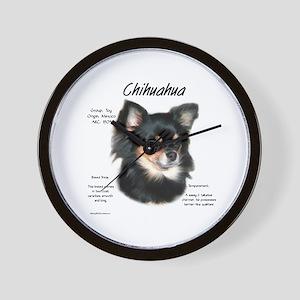 Chihuahua (longhair) Wall Clock