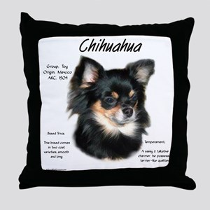 Chihuahua (longhair) Throw Pillow