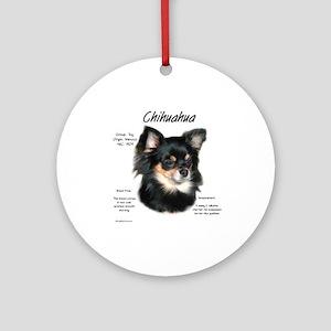 Chihuahua (longhair) Round Ornament