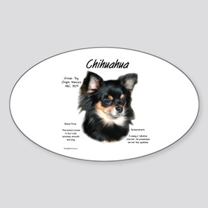 Chihuahua (longhair) Sticker (Oval)