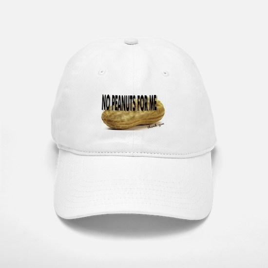 No Peanuts For Me Baseball Baseball Cap
