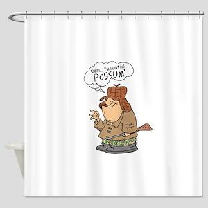 possum hunter Shower Curtain