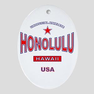 Honolulu Oval Ornament