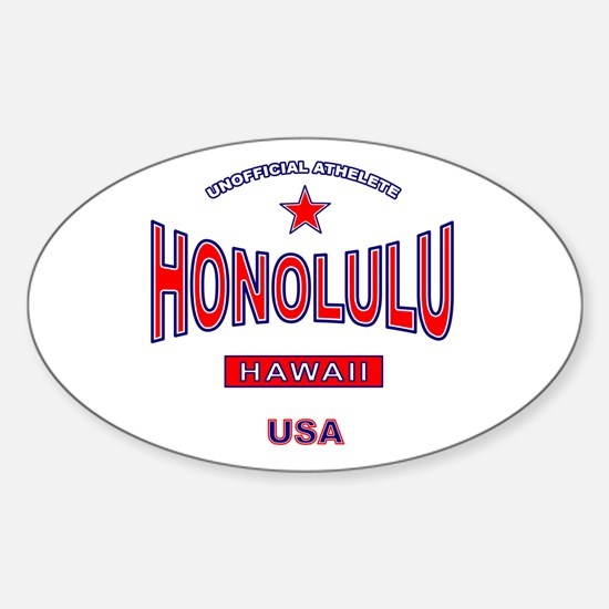 Honolulu Oval Decal