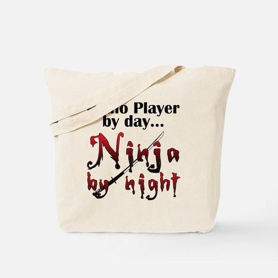 Piano Player Ninja Tote Bag