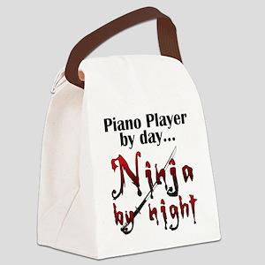 Piano Player Ninja Canvas Lunch Bag