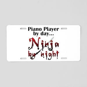 Piano Player Ninja Aluminum License Plate