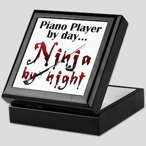 Piano Player Ninja Keepsake Box