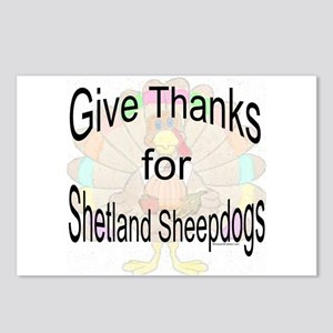 Thanks for Sheltie Postcards (Package of 8)