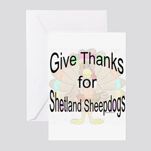 Thanks for Sheltie Greeting Cards (Pk of 10)