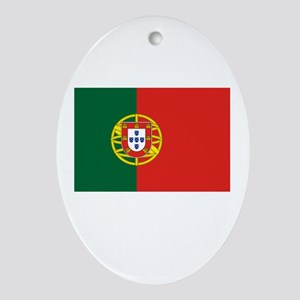 Portugal Flag Picture Oval Ornament