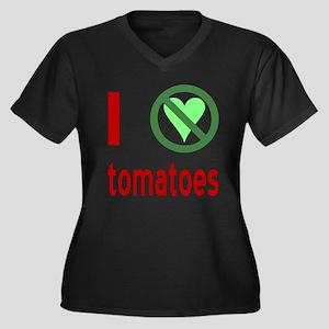 I Hate Tomatoes Women's Plus Size V-Neck Dark T-Sh