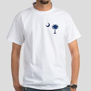 Palmetto & Cresent Moon White T-Shirt