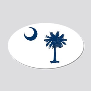 Palmetto & Cresent Moon 20x12 Oval Wall Decal
