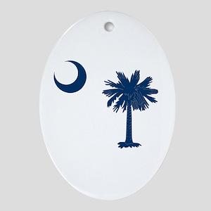 Palmetto & Cresent Moon Ornament (Oval)