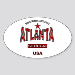 Atlanta Oval Sticker