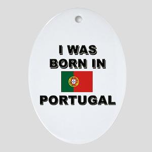 I Was Born In Portugal Oval Ornament