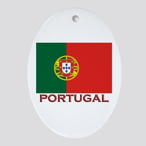 Portugal Flag Stuff Oval Ornament