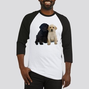 Black and White Labrador Puppies. Baseball Jersey