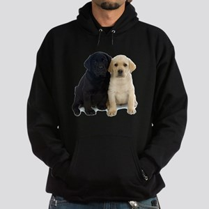 Black and White Labrador Puppies. Hoodie (dark)