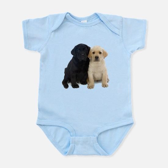 Black and White Labrador Puppies. Infant Bodysuit