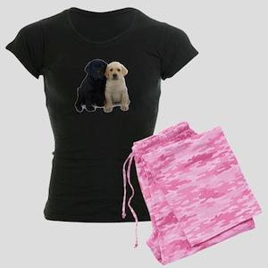Black and White Labrador Puppies. Women's Dark Paj
