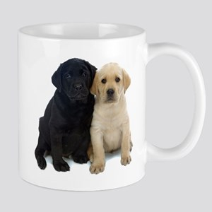 Black and White Labrador Puppies. Mug