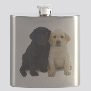 Black and White Labrador Puppies. Flask