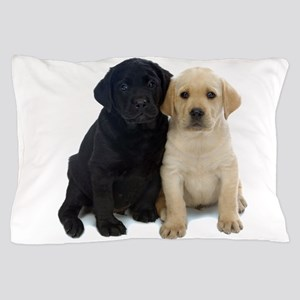 Black and White Labrador Puppies. Pillow Case
