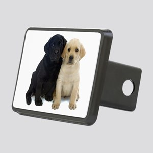 Black and White Labrador Puppies. Rectangular Hitc