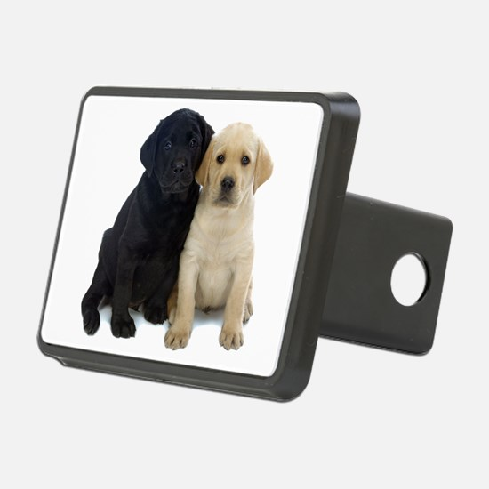 Black and White Labrador Puppies. Hitch Cover