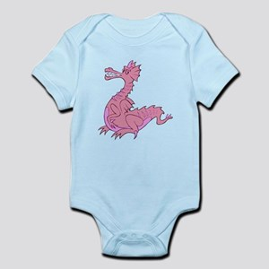 Pink Dragon Baby Infant Bodysuit