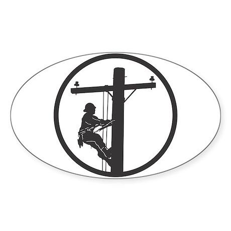 Lineman Sticker (Rectangular) Sticker