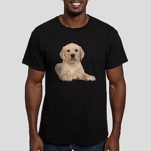 Golden Lab Men's Fitted T-Shirt (dark)