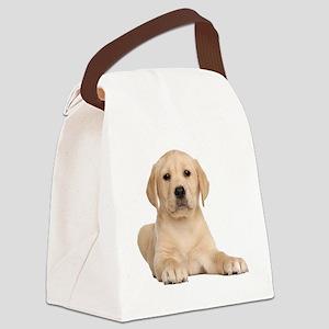 Golden Lab Canvas Lunch Bag
