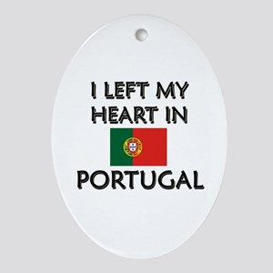 I Left My Heart In Portugal Oval Ornament