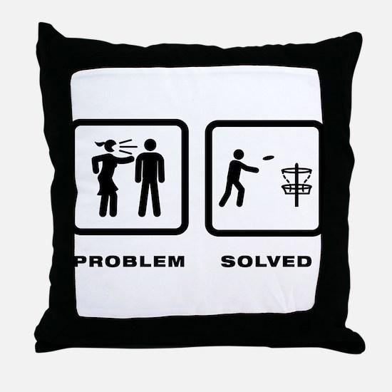 Disc Golf Throw Pillow