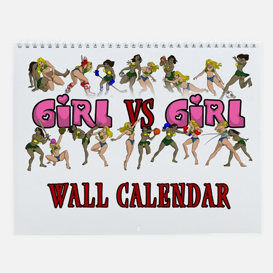 Girl VS Girl 2009 Wall Calendar